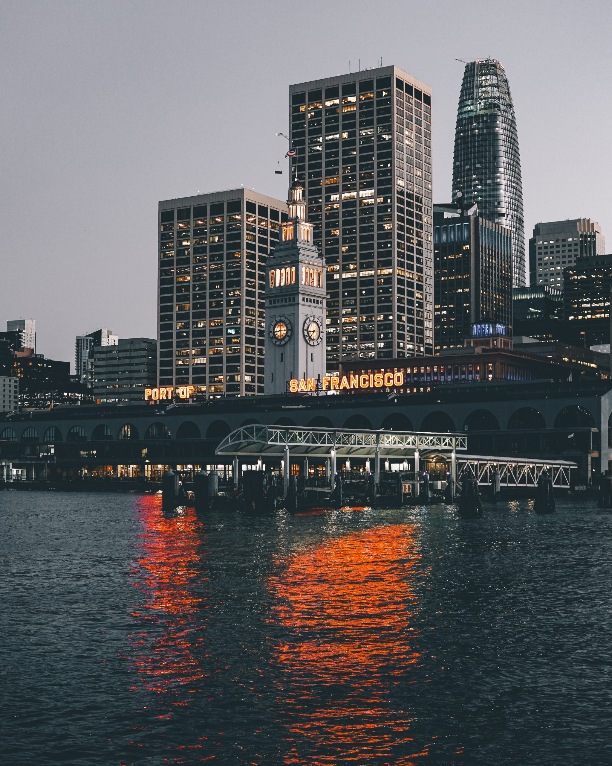 SF image with lights