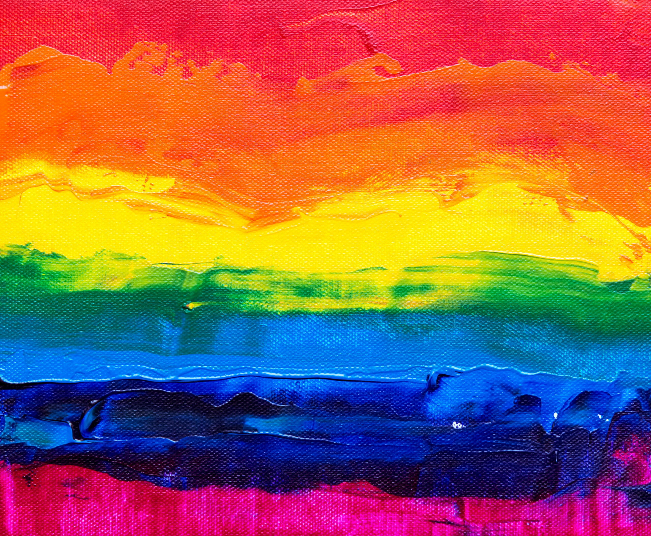Steve Johnson Unsplash Rainbow painting