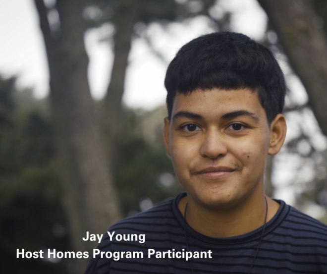 Jay Young Host Homes Participant